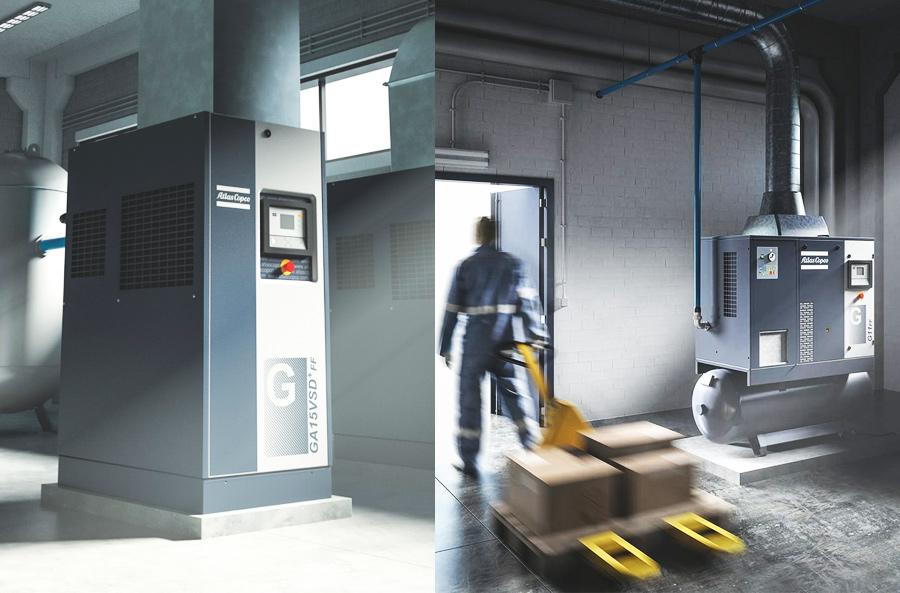 compresores lubricados con aceite Atlas Copco